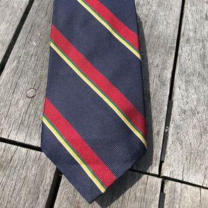 Vtg. Chaps Ralph Lauren Striped Repp Silk Tie USA